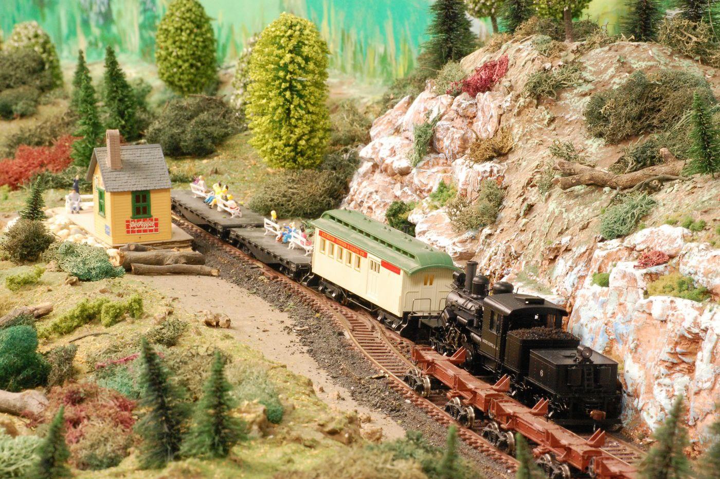 green ridge village model train